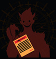 devil and contract offering concept vector image vector image