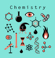 different chemical elements vector image