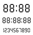 digital clock calculator digital numbers alarm vector image