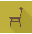 Digital wooden brown chair vector image