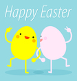 Easter eggs dance vector image vector image