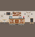 empty cafe interior cofee shop bar counter with vector image