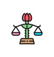 female libra gender equality lady justice flat vector image vector image