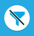 filtration icon colored symbol premium quality vector image vector image