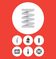 flat icon component set of spare parts absorber vector image vector image