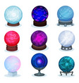 flat set of magic balls colorful glass vector image