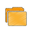 folder documents isolated icon vector image vector image