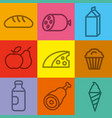 food and grocery icons vector image vector image