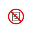 forbidden to wash washing machine icon on white vector image