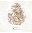 happy easter vintage background with delicate egg vector image vector image