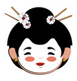 japanese woman avatar character vector image