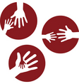 kids hands together vector image