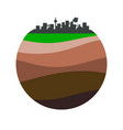 layers of the earth vector image vector image