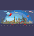 london colorful line art 8 vector image vector image
