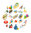 manual icons set isometric style vector image vector image