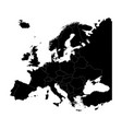 map of europe silhouette with country borders vector image vector image