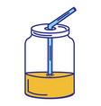 mason jar with beverage vector image