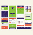 mobile apps screen elements set vector image