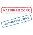 naturism zone textile stamps vector image vector image