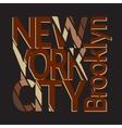 New York city t-shirt vector image vector image