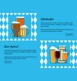 oktoberfest beer festiva web banner vector image vector image