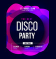 party flyer club music poster dj lineup vector image vector image