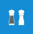 pepper grinder and salt grinder in flat design vector image