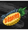 Pineapple picture Hand drawn stock vector image vector image