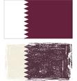 Qatar grunge flag vector image vector image
