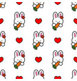 rabbit with a carrot vector image vector image