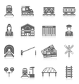 Railway Icon Set vector image vector image