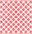 red gingham seamless pattern vector image