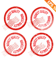 Rubber stamp highest quality - - EPS10 vector image