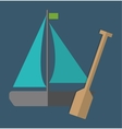 sailboat over blue background icon image vector image vector image