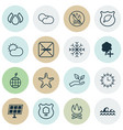 set of 16 ecology icons includes cigarette vector image vector image