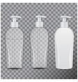 set of realistic cosmetic bottles tube or vector image vector image