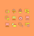 set simple line icons software vector image vector image