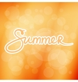 Soft Orange Blurred Background with Text Summer vector image