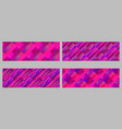 stripe pattern banner background collection vector image vector image