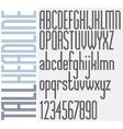 Tall Headline Parallel Lines retro style light vector image