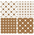 Tile pattern or brown floor background set vector image