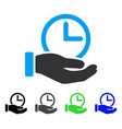 time service flat icon vector image