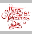 Valentines Day greetings calligraphy vector image