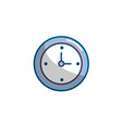 wall clock design to know the time vector image vector image
