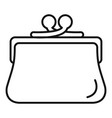 woman wallet icon outline style vector image vector image