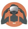 woman wearing virtual reality glasses-04 vector image vector image
