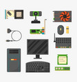 computer parts network component accessories vector image