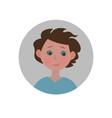 guilty emoticon sorry expression icon vector image