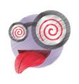 drawing emoticon crazy april fools day vector image