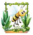 A bee in the garden vector image vector image